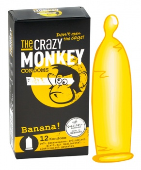 413135 Kondómy The Crazy Monkey Banana