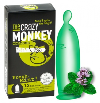 413127 Kondómy The Crazy Monkey Fresh-Mint