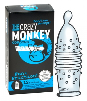 413143 Kondómy The Crazy Monkey Fun + Friction