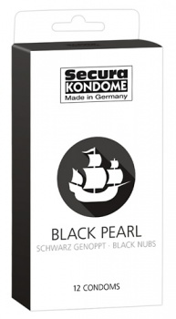 416231 Kondómy Secura Black Pearl 12 ks