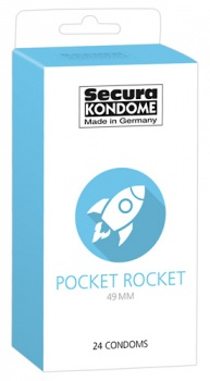 416304 Kondómy Secura Pocket Rocket 24 ks