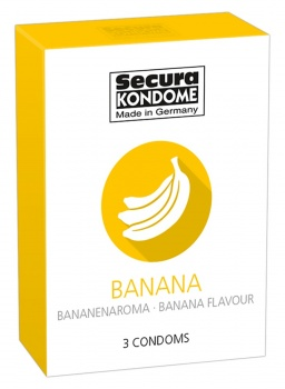 416118 Kondómy Secura Banana 3 ks